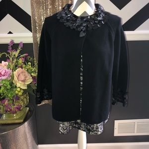 NEW-Jones New York Black Cardigan Sweater-SMALL